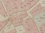 Plan cadastral 1807. Section I3 : ville close, rue de l'Ouest. AD Morbihan 3 P 297/22.
