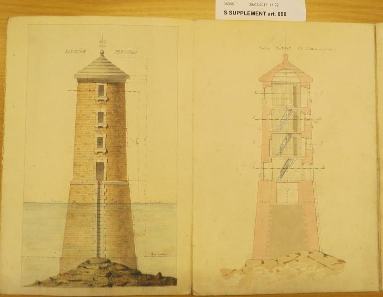 Phare de la Corne (plan 1872 AD 22 S suppl. Art 606 )