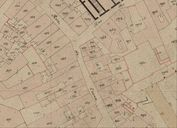 Plan cadastral de 1844 : section K8, détail, rue Saint-Salomon, parcelle 1954. AD Morbihan 3P 297/53.
